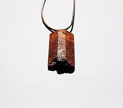 Šperky - Drevený náhrdelník - Z brezovej kôry - 10952656_