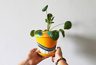 Nádoby - Terakotový kvetináč - Summer mood - 10951795_