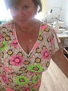 Šaty - Šaty-neon kopretiny - 10951629_