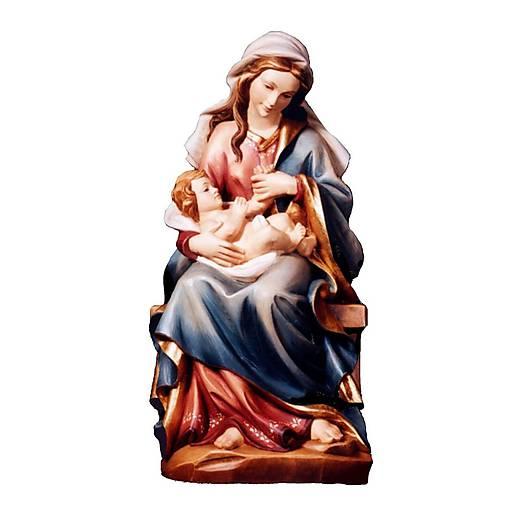 Sediaca Madona a dieťa