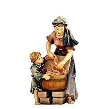 Socha - Práčka s Dieťaťom - 10950758_