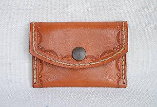 Peňaženky - Kožená peňaženka - 10952544_