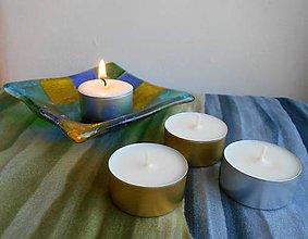Svietidlá a sviečky - Sójová čajová sviečka 20g v pliešku - 10950754_