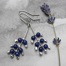 Náušnice - Levanduľa modrá - náušnice - 10952195_