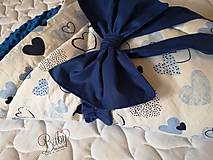 Textil - Rýchlozavinovačka modrá s minky - 10951246_