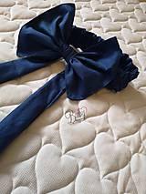 Textil - Rýchlozavinovačka modrá s minky - 10951247_