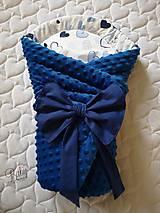 Textil - Rýchlozavinovačka modrá s minky - 10951248_