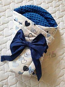 Textil - Rýchlozavinovačka modrá s minky - 10951245_