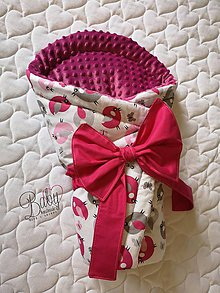 Textil - Rýchlozavinovačka ružová s minky - 10951277_
