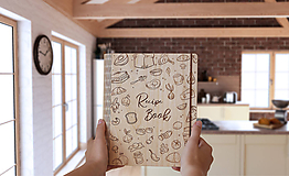 "Papiernictvo - Drevený receptár ""Recipe Book"" - 10950465_"