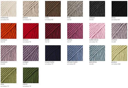 Krížená merino čelenka (58 farieb)