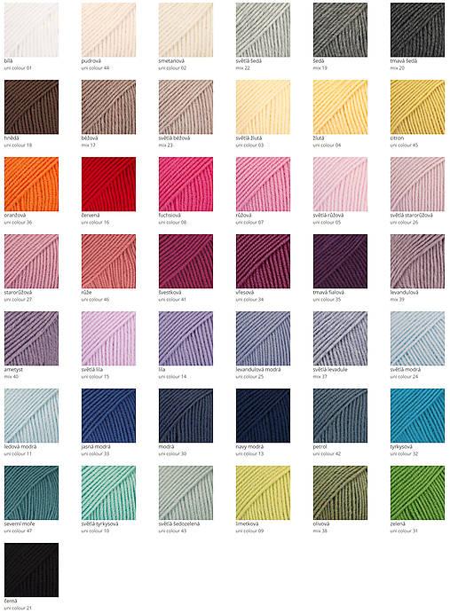 Merino čelenka (43 farieb)