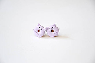 Náušnice - Donut (, mačičky 2) - 10951241_
