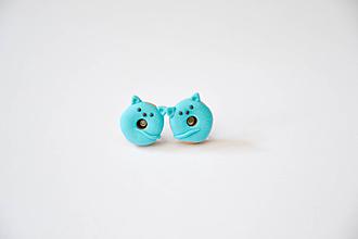 Náušnice - Donut (, mačičky 3) - 10951244_