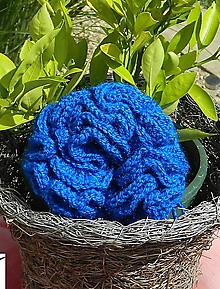 Úžitkový textil - Modrá hubka - 10952342_