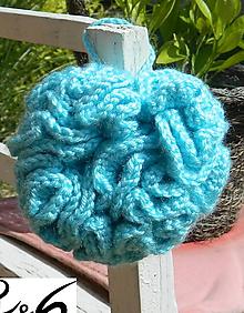 Úžitkový textil - Tyrkysová  hubka - 10952436_