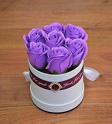 Dekorácie - BRILLIANT FLOWER BOX (Fialová) - 10952017_