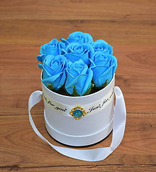 Dekorácie - BRILLIANT FLOWER BOX (Modrá) - 10952024_