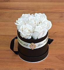 Dekorácie - BRILLIANT FLOWER BOX (Biela) - 10952032_