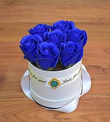 Dekorácie - BRILLIANT FLOWER BOX (Kráľovská modrá) - 10952034_