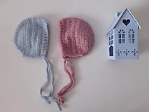 Detské čiapky - Vlnené čiapočky pre dvojičky - 10951735_