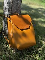 Batohy - Kožený ruksak NO.14 - 10953522_