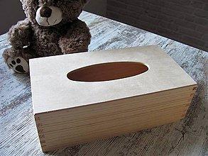 Polotovary - Drevený box na vreckovky 25x13 cm - 10951107_