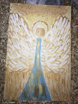 Obrazy - Anjelský obraz (Strieborná) - 10951826_
