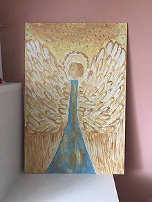 Obrazy - Anjelský obraz (Strieborná) - 10951824_