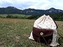 Batohy - Bavlnený vak - Kvietky - 10950946_
