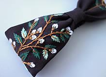 Ozdoby do vlasov - Ľanový turban a čelenka v jednom - Dark brown 1 - 10951627_