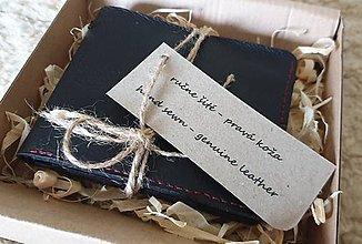 Peňaženky - predám ručne šitú pánsku koženú peňaženku - 10952247_