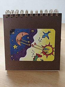 Papiernictvo - Zápisník, poznámkový blok, noc prelína sa s dňom - 10952669_