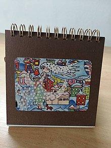 Papiernictvo - Zápisník, poznámkový blok, Pani Zima, meluzína - 10952966_