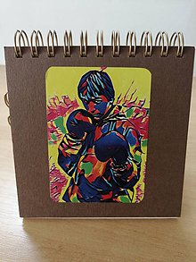 Papiernictvo - Zápisník, poznámkový blok, boxer - žltá - 10952999_