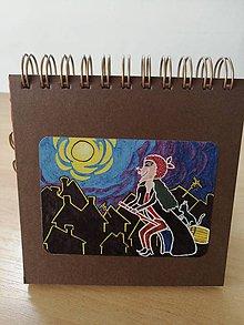 Papiernictvo - Zápisník, poznámkový blok, slečna ježibaba - 10953049_