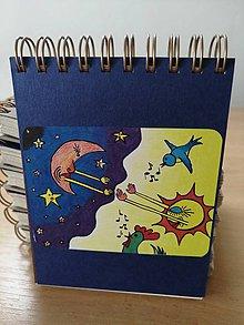 Papiernictvo - Zápisník, poznámkový blok, noc prelína sa s dňom - 10953216_