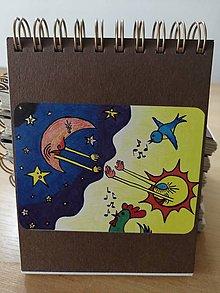 Papiernictvo - Zápisník, poznámkový blok, noc prelína sa s dňom - 10953259_