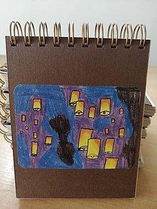 Papiernictvo - Zápisník, poznámkový blok, lampióny šťastia - 10953270_