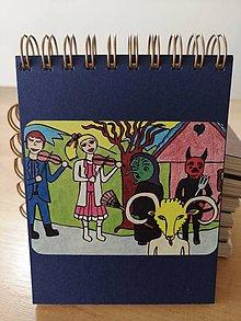 Papiernictvo - Zápisník, poznámkový blok, fašiangy - 10953285_