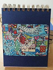 Papiernictvo - Zápisník, poznámkový blok, Pani Zima, meluzína - 10953301_
