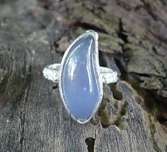 Prstene - Modrý chalcedón - prsteň - 10951840_