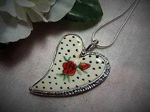 Náhrdelníky - keramika ..srdce.. - 10952180_