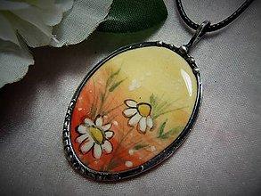 Náhrdelníky - keramika ..margaréty.. - 10952205_
