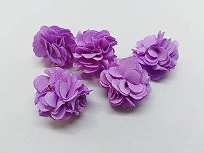 Polotovary - Strapček- gulička kvet - pár (Fialová) - 10951101_