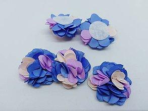 Polotovary - Dekoračné kvety (Modrý mix) - 10951825_