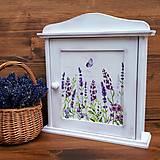 Krabičky - Skrinka na kľúče - Levanduľová - 10951831_
