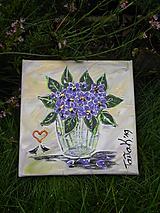 Obrazy - Fialénky - 10953486_