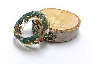 Prstene - Prstienok Nature Green stone - 10952187_