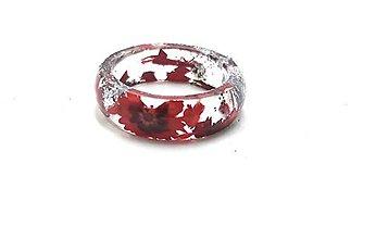 Prstene - Prstienok Red Heart Flower - 10952813_